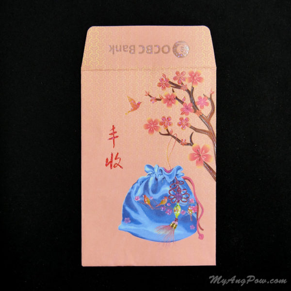 OCBC Bank Ang Pow 2013 – Chinese Bag of Fortune Front View with open lid.